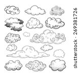 doodle collection of hand drawn ...   Shutterstock .eps vector #269381726