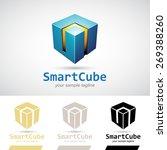 blue shiny 3d cube logo icon... | Shutterstock .eps vector #269388260