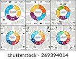 vector circle infographic.... | Shutterstock .eps vector #269394014