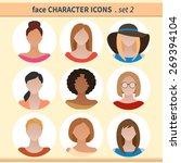female faces avatars. character ... | Shutterstock .eps vector #269394104