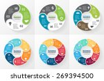 vector circle infographic.... | Shutterstock .eps vector #269394500