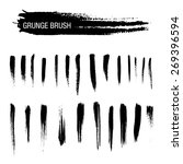 vector set of grunge brush... | Shutterstock .eps vector #269396594