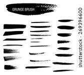 vector set of grunge brush... | Shutterstock .eps vector #269396600