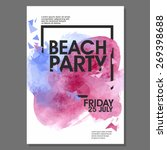 summer beach party vector flyer ... | Shutterstock .eps vector #269398688