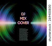 dj mix cover with music... | Shutterstock .eps vector #269400830