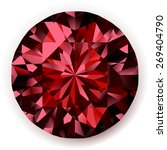 shiny realistic ruby  on white... | Shutterstock . vector #269404790