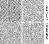 grunge textures set. | Shutterstock .eps vector #269405954