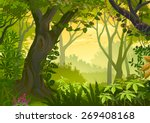 warm climatic jungle... | Shutterstock .eps vector #269408168