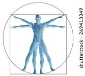 vitruvian human or man as a... | Shutterstock . vector #269413349