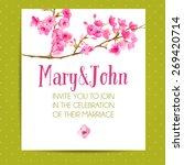 wedding invitation template... | Shutterstock .eps vector #269420714