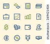 finance web icons set | Shutterstock .eps vector #269421404