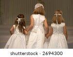 three flower girls on a wedding ... | Shutterstock . vector #2694300