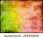 old vintage grunge paper sheet... | Shutterstock . vector #269430800