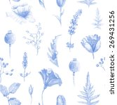seamless pattern of watercolor... | Shutterstock . vector #269431256