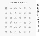 6x6 camera and photo line icons | Shutterstock .eps vector #269435990