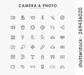 36 camera and photo minimal... | Shutterstock .eps vector #269436020