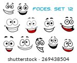 emotions faces in cartoon style ... | Shutterstock .eps vector #269438504