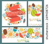 set with stylized summer... | Shutterstock .eps vector #269438726
