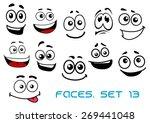 cute cartoon emotional faces... | Shutterstock .eps vector #269441048