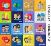 flat icons set  vector... | Shutterstock .eps vector #269445359