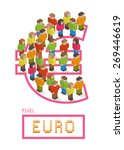 illustration of euro made up of ... | Shutterstock .eps vector #269446619
