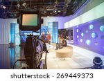 television studio with camera... | Shutterstock . vector #269449373