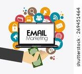 marketing design over white... | Shutterstock .eps vector #269451464