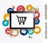 marketing design over white... | Shutterstock .eps vector #269454680