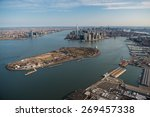 Aerial View Of Manhattan And...