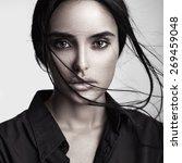 closeup beauty portrait of a... | Shutterstock . vector #269459048