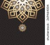 eid mubarak card arabic design... | Shutterstock .eps vector #269464004