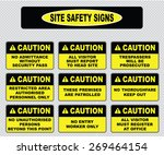 various caution sign  site... | Shutterstock .eps vector #269464154