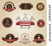 coffee design elements | Shutterstock .eps vector #269464169