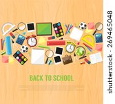 back to school flat style... | Shutterstock .eps vector #269465048