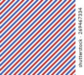 white  red and blue stripes...   Shutterstock . vector #269467334