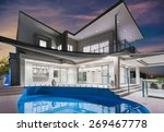 modern new luxurious mansion... | Shutterstock . vector #269467778
