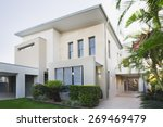 contemporary house exterior on... | Shutterstock . vector #269469479