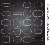 set of blank retro vintage... | Shutterstock .eps vector #269470940