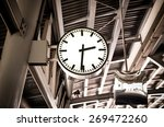 closeup clock at the sky train... | Shutterstock . vector #269472260
