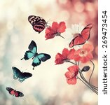 digital painting of flowers and ... | Shutterstock . vector #269473454
