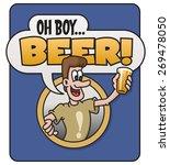 oh boy beer vector design. | Shutterstock .eps vector #269478050