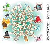sea animals  boats pirates. sea ... | Shutterstock .eps vector #269480660
