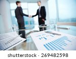 business documents with... | Shutterstock . vector #269482598