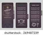 restaurant menu design. | Shutterstock .eps vector #269487239