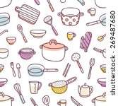 kitchenware and cooking... | Shutterstock .eps vector #269487680