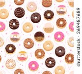 donuts and little hearts... | Shutterstock .eps vector #269487689