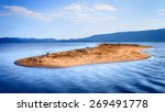 Lone Small Sandy Island In The...