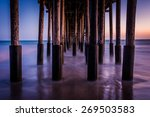 Under The Pier At Twilight  In...