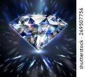dazzling shiny colorful diamond ... | Shutterstock .eps vector #269507756