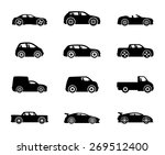 vector icons. cars. | Shutterstock .eps vector #269512400